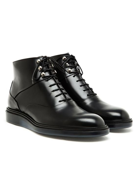DIOR HOMME Polished Leather Ankle Boots | Shoes &amp cenas