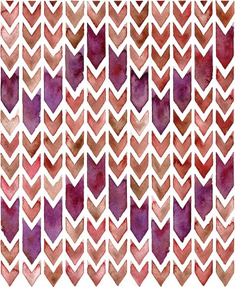 watercolor chevron (easy diytape out or white crayon the pattern