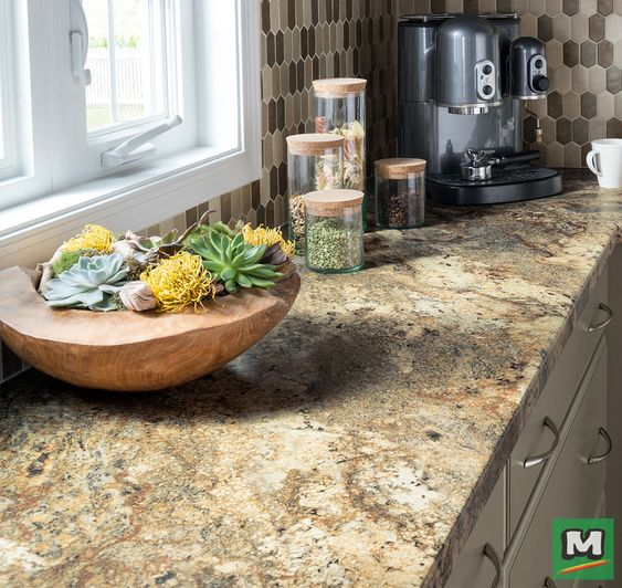 Upgrade Your Kitchen With Lapidus Brown High Resolution Laminate Countertops From Customcraft Looking Laminate Countertops Brown Laminate Formica Countertops