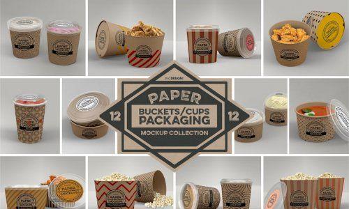 Download Download Paper Food Packaging Mockups Vol 12 G4ds Makanan Desain Kemasan