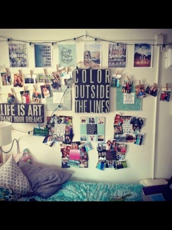 Decora tu habitación con fotos y consigue un aire #hipster Ideas decoración #dormitorios:
