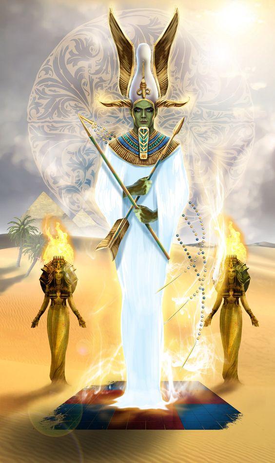 Nice divine sperm of osiris egyptian myths theme, will