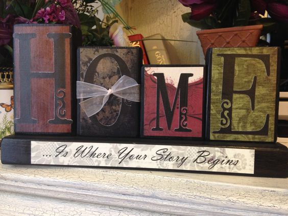 HOME...is where your story begins.  Personalized Blocks