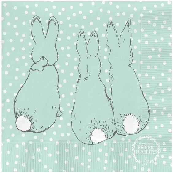 Peter+Rabbit+-+Peter+Rabbit+Contemporary+Napkin+(Cotton-Tail+Polka+Dot)