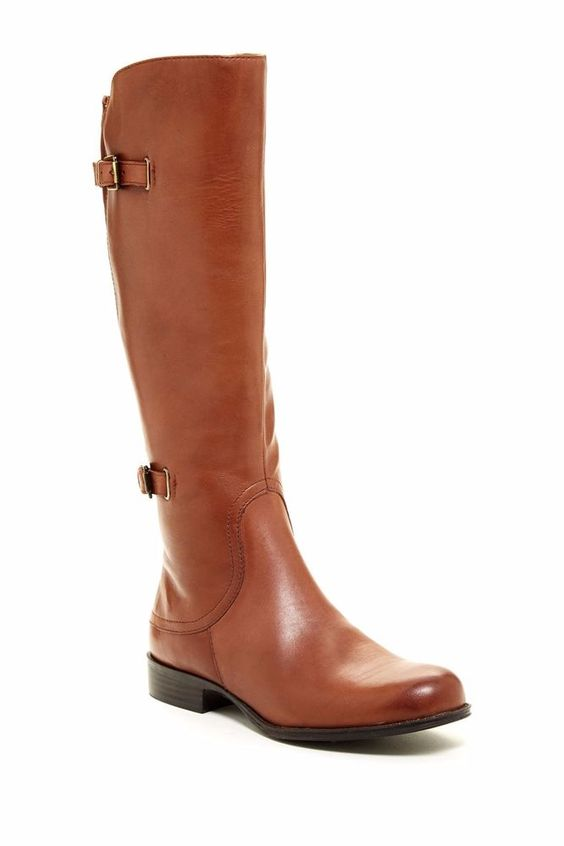 New Naturalizer Womens Jamison Leather Tall Knee High Riding Boots 11 Wide Calf #Naturalizer #KneeHighBoots #Casual