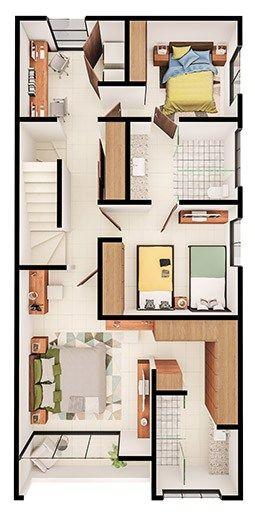 Casas En Venta En Cumbres Modelo Vivana Planta Alta Segundo Piso Casa Casas Ampliaciones De Casas