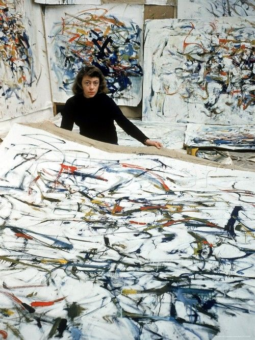 Joan Mitchell. The Pins don't give you an idea of the scale of Joan's art - this gives you some idea..