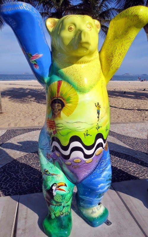 LITERATURA & RIO DE JANEIRO O nosso ursinho brasileiro, criação da artista Sonia Correa
