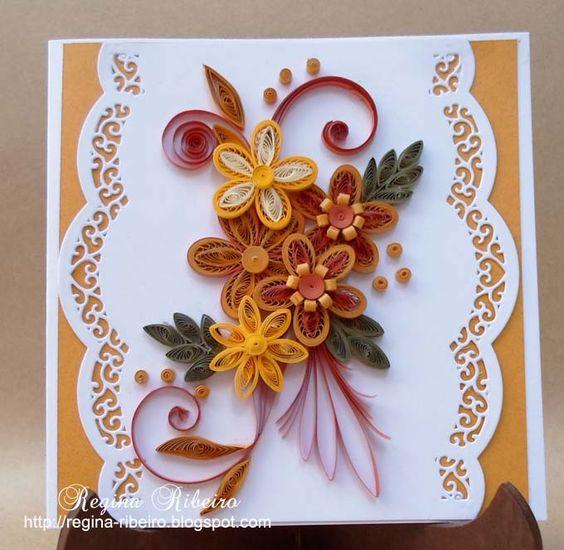 Armário Em Inglês Como Se Escreve ~ Regina Ribeiro cart u00e3o artesanal em quilling SEGREDOS DO PAPEL 3 Pinterest Colchas e Ems