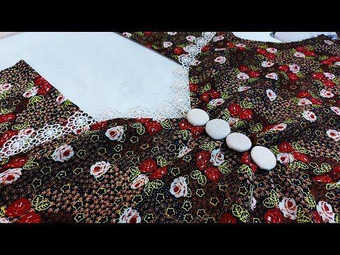 خياطة موديل صدر دشداشة نسائية جميلة جدا موديلات دشاديش Blouse Design Youtube Sewing Collars Fashion Sewing Christmas Tree Skirt