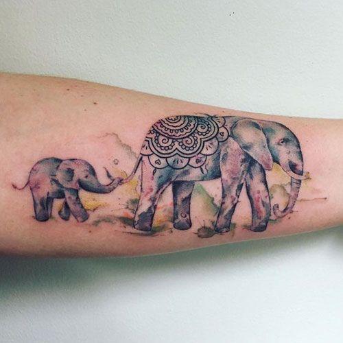 Rodrigo Tas Watercolor Elephant Watercolor Elephant Tattoos