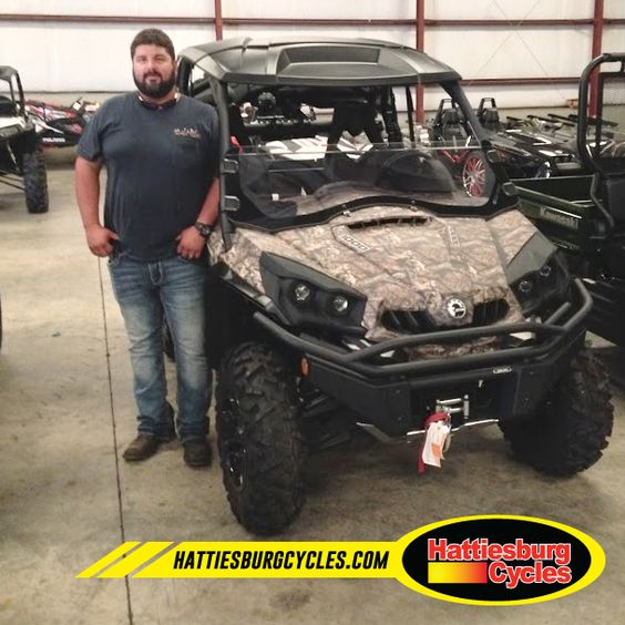 Thanks to Gabriel Ruiz from Pass Christian MS for getting a 2016 Can Am Commander XT 1000. #HattiesburgCycles