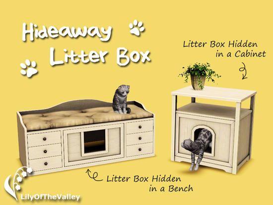 Lilyofthevalley S Hideaway Litter Box Sims 4 Cc Mobel Hund Und