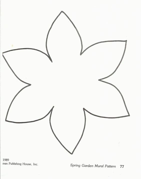 flower template preschool flower for hair. Black Bedroom Furniture Sets. Home Design Ideas