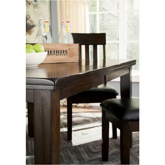 Haddigan Dining Room Extension Table Dark Brown Kitchen