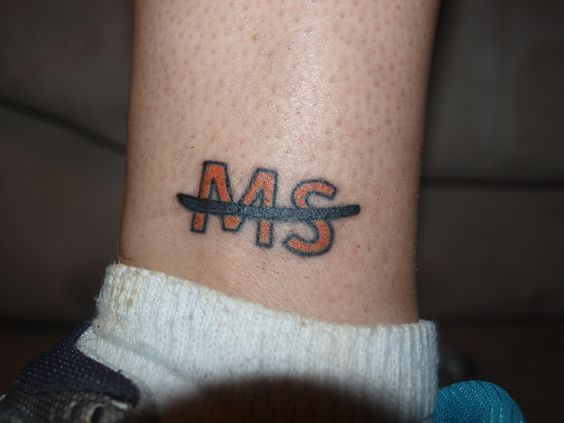 """""""This is my MS tattoo for my daughter, Jade, who is 16-years-old living with MS. Every time someone asks me about it, I tell them her story and how to help others living with MS. """"  You can read more stories by clicking on the image.Written by a previous pinner."""
