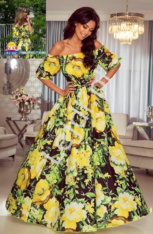 Zwiewna Sukienka Hiszpanka W Zolte Kwiaty Klara Ida Novakowska Dresses Fashion Maxi Dress