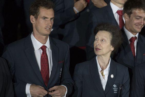 La princesse Anne avec Andy Murray à Rio de Janeiro, le 4 août 2016