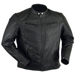 Lightweight Premium Leather Motorcycle Jacket | D Jackets for men