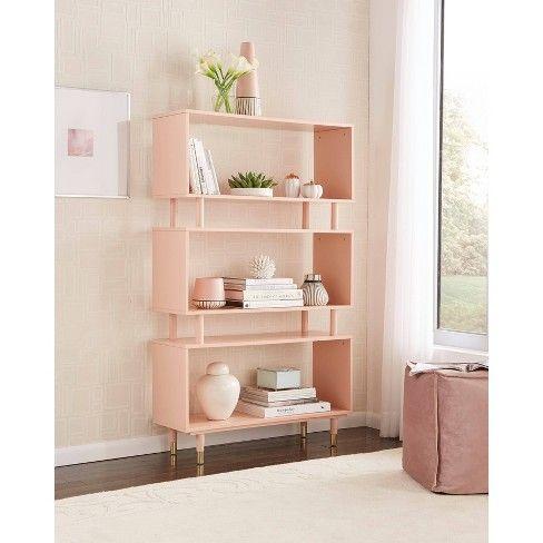Trieste Bookshelf Pink Buylateral In 2019 Shelves Furniture Deals Bookshelves