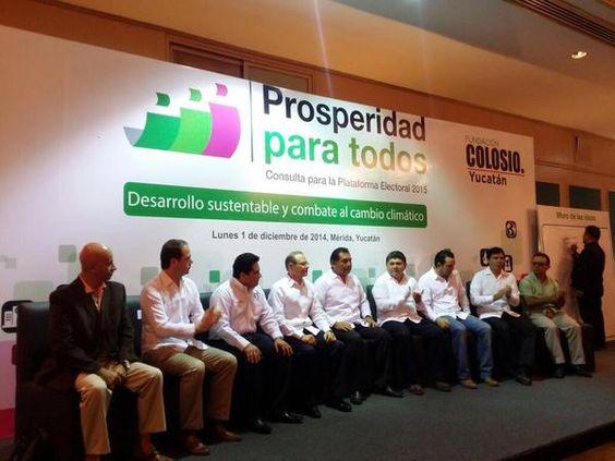 """Encuentro @FColosioAC @Pri_Yucatan """"Desarrollo Sustentable y Combate al cambio climático"""""""