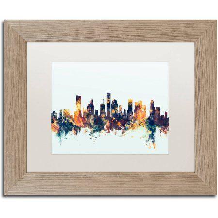 Trademark Fine Art Houston Texas Skyline Blue Canvas Art by Michael ...