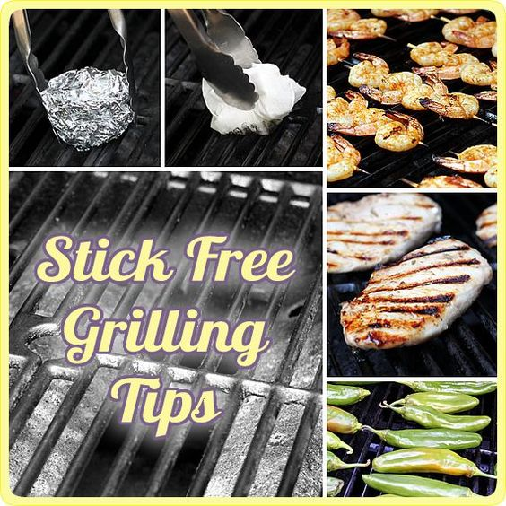 How to prevent food from sticking to the girll - easy tips