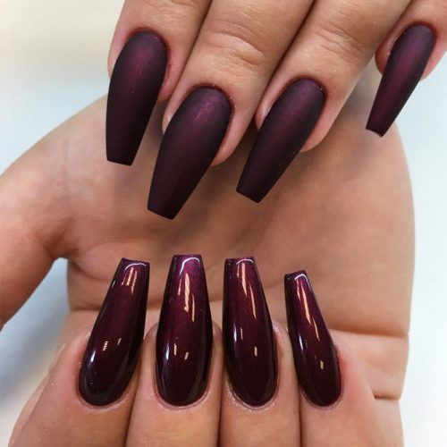 50 Newest Burgundy Nails Designs You Should Definitely Try In 2020 Burgundy Nail Designs Burgundy Nails Latest Nail Designs