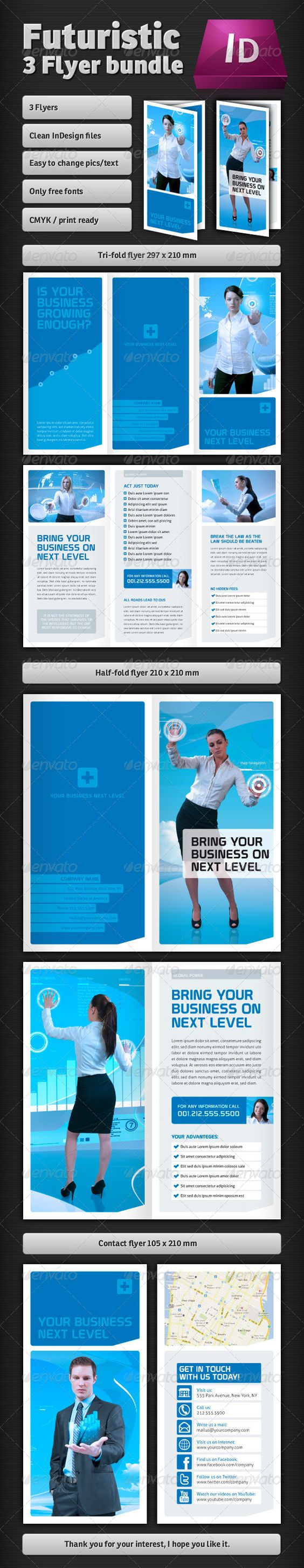 Futuristic Brochures  Brochures And Flyer Template