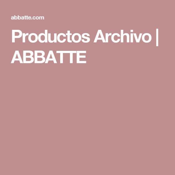Productos Archivo | ABBATTE
