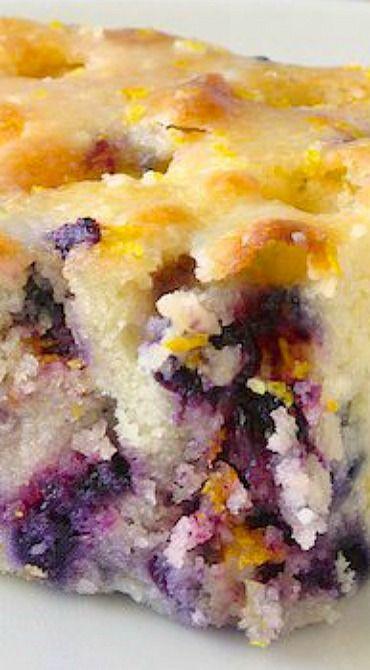 Blueberry Lemon Drizzle Cake Recipe