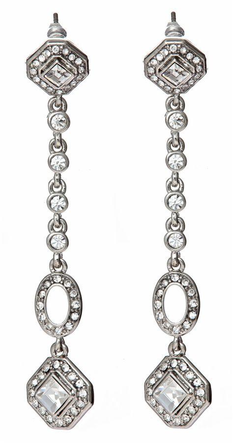 Carolee Crystal Diamond Linear Drop Earrings - $55.00