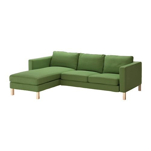 KARLSTAD 雙人座沙發附躺椅 - Sivik 綠色 - IKEA