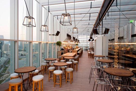 Iris bar en la azotea y restaurante por Suzy Nasr, Dubai - Emiratos Árabes Unidos »Retail Design Blog