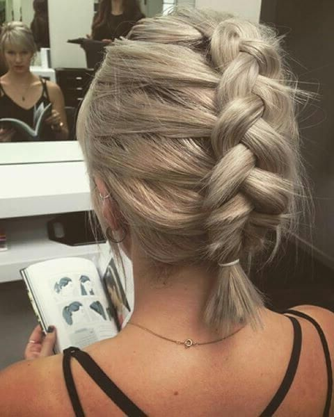 20 Braids Styles For Short Hair As A Short Haired Young Lady It Can Once In A While Be Hard To Make Those Braids For Short Hair Hair Styles Short Hair Makeup