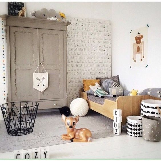 mommo design: GREY KID'S ROOM: