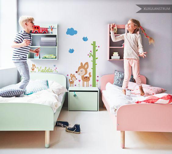 Vinilo infantil XuxuLanstrum modelo Bambi. Mobiliario Flexa.
