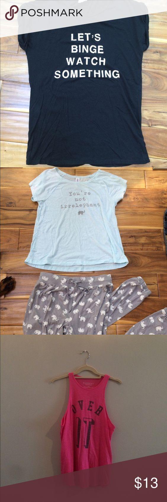 Bundle! Do not buy unless buyer! Bundle! Forever 21 & Aeropostale! Forever 21 Intimates & Sleepwear Pajamas