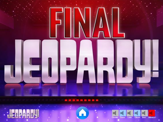 jeopardy powerpoint template with music - final jeopardy - jeopardy powerpoint template