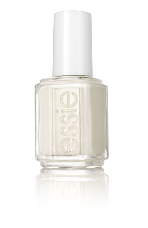 White nails for the winter! | Essie Tuck it in my Tux http://www.vogue.com/tag/misc/the-holiday-showroom
