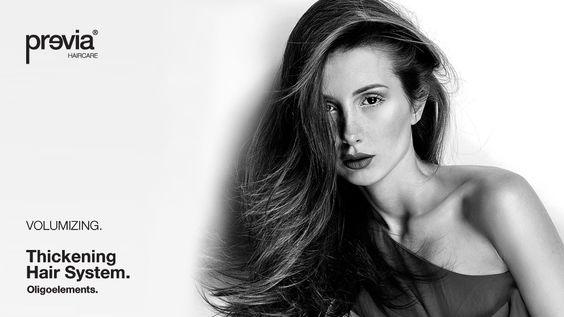 Una gamma completa di prodotti specifici per i capelli fini e sottili. Volumizing Thickening Hair System.