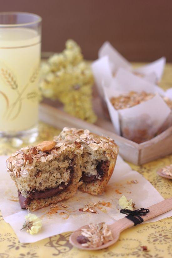 Muffins de plátano y Nutella paso a paso - Megasilvita