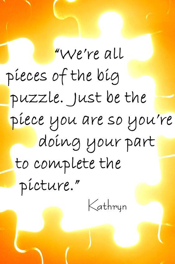 Team Puzzle Pieces Quotes | Puzzle Piece Team Quotes. QuotesGram #inspirationalteamquotes