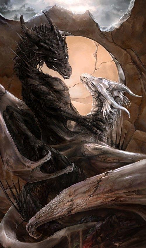Fantasy White Dragon Wallpaper