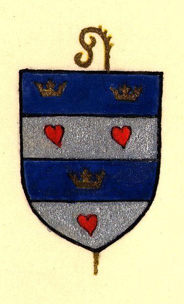 Dessin des armes de Guillaume ou Guy Baudreuil, abbés de Saint-Martin-au-Bois