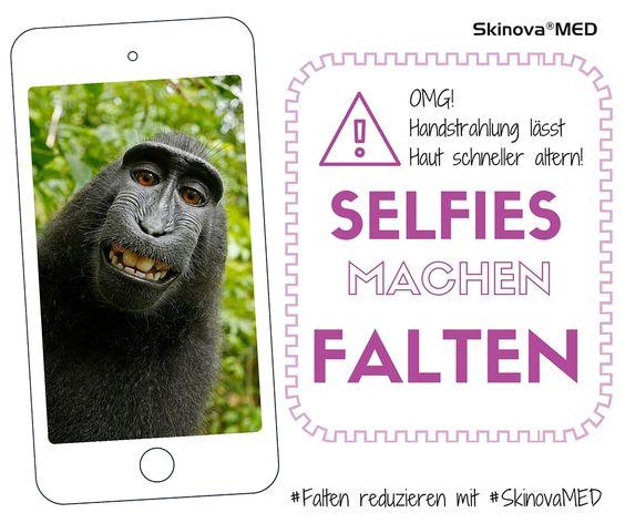Oh nein! Selfies machen Falten!  #selfie #falten #handystrahlung #beauty #haut #skinovaMED