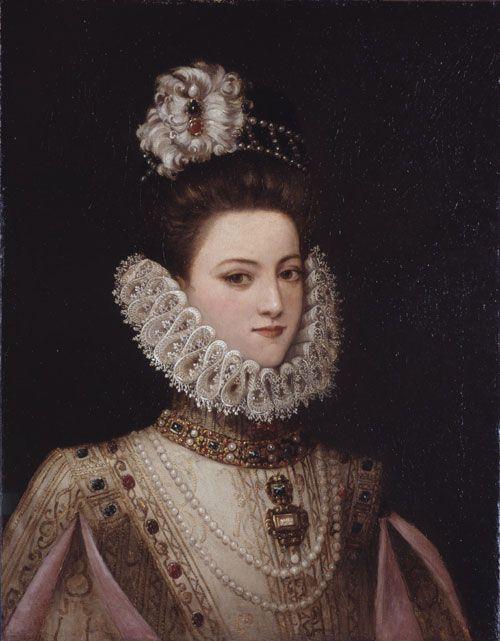 infanta catalina micaela | after Alonso Sanchez Coello , Portrait of Infanta Isabella Clara .....