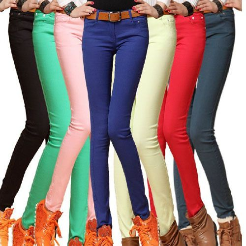 Brilliant Women Jeans Casual Summer Style Women Clothing Colored Skinny Jeans