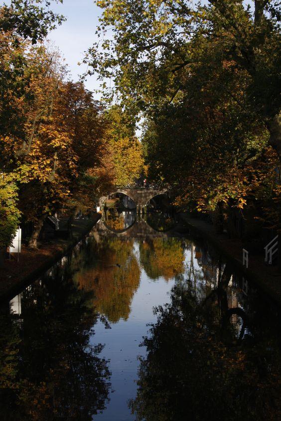 Canals of Utrecht autumn 2015 reflection