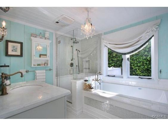 beautiful blue bathroom Bathrooms Pinterest Blue